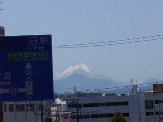 昼間晴れていれば富士山が見えます