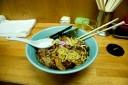 すこし混ぜて麺を露出させた写真がこれです。